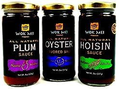 Wok Mei Variety Set of 3 - Oyster, Hoisi...