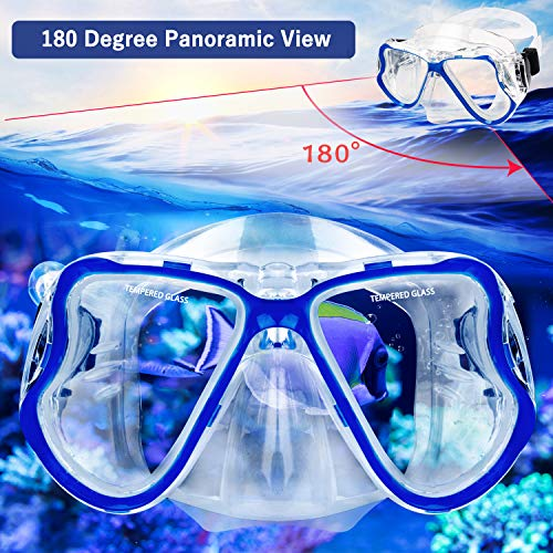 Greatever 2019 Newest Dry Snorkel Set,Panoramic Wide View,Anti-Fog Scuba Diving...