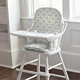 Carousel Designs French Gray and Mint Quatrefoil High Chair Pad