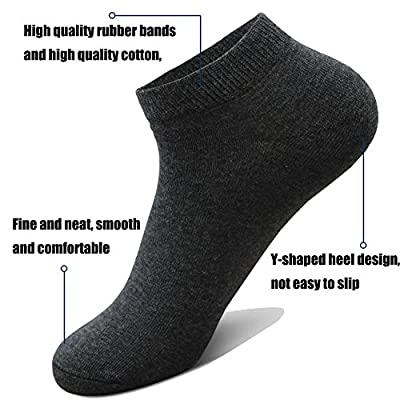 10 Pairs Ankle Socks No Show Sock Low-Cut Athletic Men Women Cotton Socks: Health & Personal Care