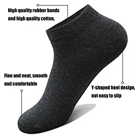 10 Pairs Ankle Socks No Show Sock Low-Cut Athletic Men Women Cotton Socks