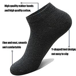 10 Pairs Ankle Socks No Show Sock Low-Cut Athletic Men Women Cotton Socks