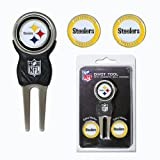 NFL Officially Licensed Divot Tool with 3 Markers Pittsburgh Steelers