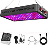 Phlizon Newest 1200W LED Plant Grow Light,with Thermometer Humidity Monitor,with Adjustable Rope,Full Spectrum Double Switch Plant Light for Indoor Plants Veg and Flower- 1200W(10W LEDs 120Pcs) For Sale