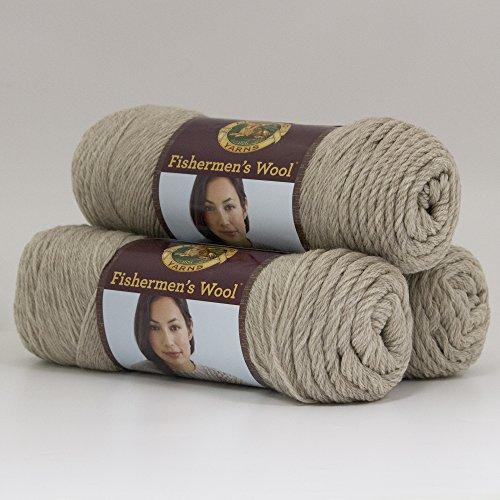 (3 Pack) Lion Brand Yarn 150-123 Fishermen's Wool, Oatmeal (Wool Fishermans Yarn)