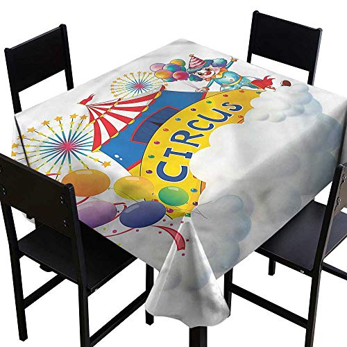 SKDSArts Square Tablecloth Wood Circus,Entertainer Comedian,W70 x L70 Tablecloths