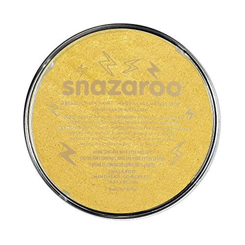 Snazaroo Metallic Face Paint, 18ml, Gold
