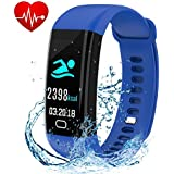 Letuboner Fitness Tracker with Heart Rate Monitor,Color Screen Activity Tracker,IP68 Waterproof Smart Wristband Pedometer