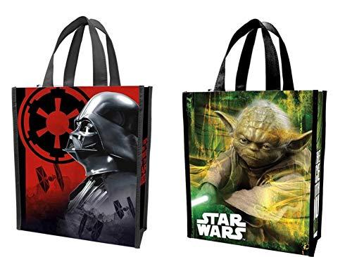 Vandor Star Wars Darth Vader and Yoda Small Recycled Shopper Tote Bag Set of 2