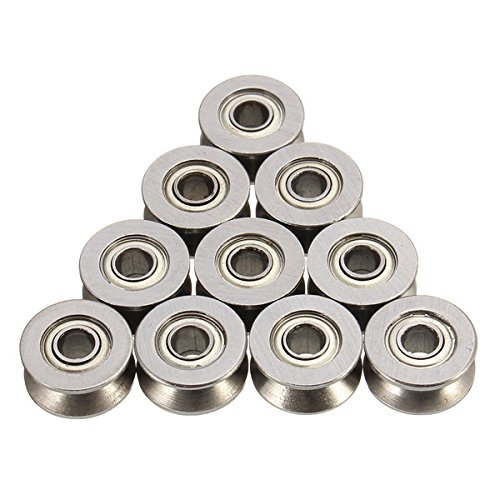 CynKen-10pcs-624VV-4mm-V-Groove-Sealed-Ball-Bearings-Wire-Guide-Pulley-Wheels-Roller