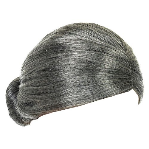 EBTOYS Granny Wig Mrs Claus Fancy Dress Accessories (Grey Bun Wig) -