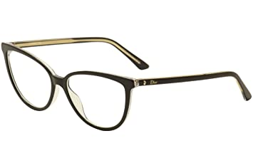 d6dc587c7600 Image Unavailable. Image not available for. Color  Christian Dior  Eyeglasses Montaigne No.33 TKX Black Gold Optical Frame 54mm