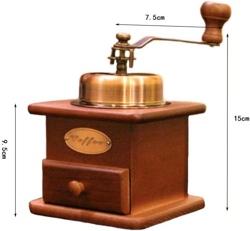 Caf/é En Bois Moulin /À Caf/é Vintage Moulin /À Caf/é Machine Manuelle /À Grains En Grains