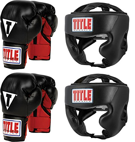 Boxing Gloves Headgear (TITLE Youth Boxing Set)