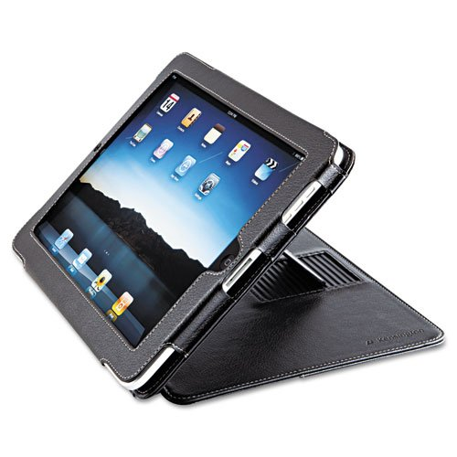 Folio Protective Case and Stand For iPad/iPad2, Black by KENSINGTON (Catalog Category: Computer/Supplies & Data Storage / Notebook/PDA & Mobile Computing Accessories)