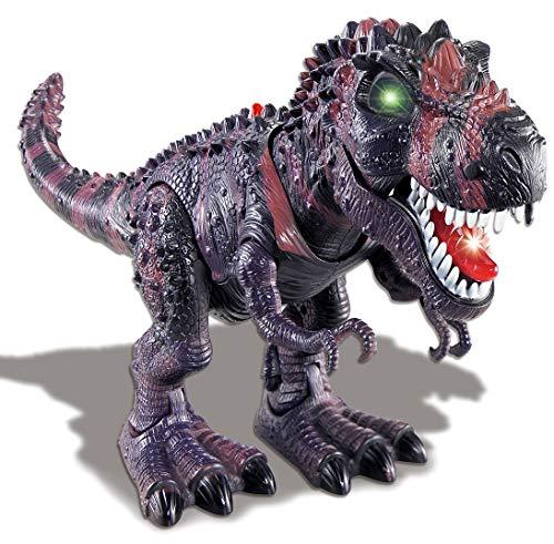 PowerTRC Walking Tyrannosaurus T-Rex Dinosaur Toy with Flashing Lights and Realistic Roaring Sound -