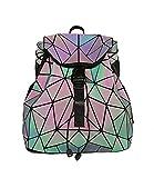 Magibag Lattice Geometric Backpack Iridescent Rainbow Rucksack School Bag Pack Teenager girl