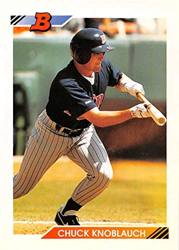 1992 Bowman Baseball #24 Chuck Knoblauch Minnesota Twins Official MLB Trading Card from Topps