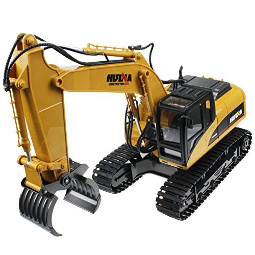 2.4Ghz Radio Control 16 Channel Alloy Timber Grab Excavator Rechargeable Sound and Light Demo Remote Control Engineer (Demo Equipment)