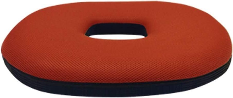 膝パッド クッション環境保護オフィスチャイルドシート解放圧力サポート通気性マタニティチェアクッション (Color : オレンジ, Size : 44*44*6cm) オレンジ 44*44*6cm