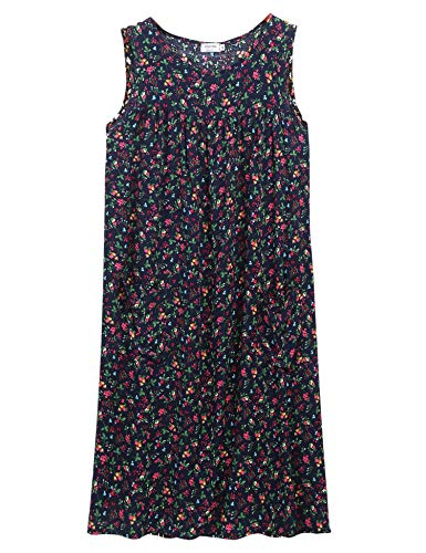 - Floral Print Lounge House Dresses for Women with Pockets