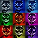 Light Up Masks Stitches LED Costume Mask (Halloween Rave Cosplay EDM Purge) GR