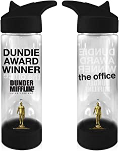 The Office Water Bottle [Clear and Black 17oz], w/Inside Molded Bottle Hydro Tumbler Flask, Plastic TV Series Bottle (Officially Licensed)