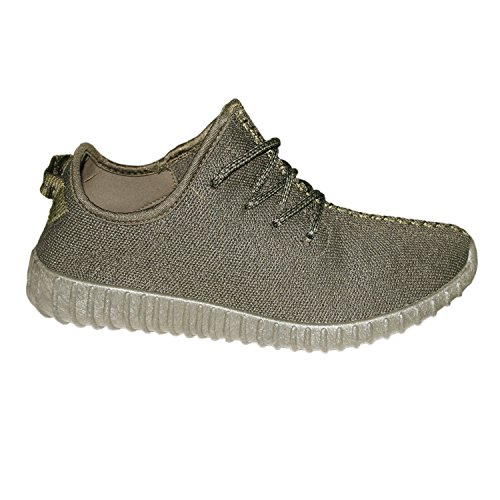 Men's Trainers Gents Running Shock Absorbing Fitness Gym Sports 66-M UK Shoes (UK 6, Khaki)
