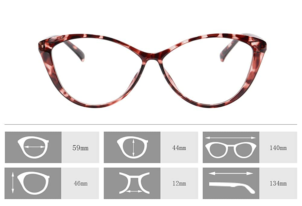 SHINU Ladies Cat Eye Optical Glasses Frame Anti Blue Light Computer Glasses Clear Lens Eyewear for Women Blue Blocking Glasses-5865