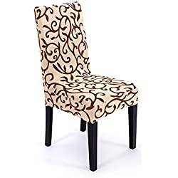 Ieasycan Spandex Stretch Dining Chair Cover Machine Washable Restaurant For Weddings Banquet Folding Hotel Chair Covering