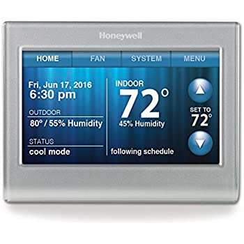 Honeywell RTH9580WF Smart Wi-Fi 7 Day Programmable Color Touch Thermostat, Works with Amazon
