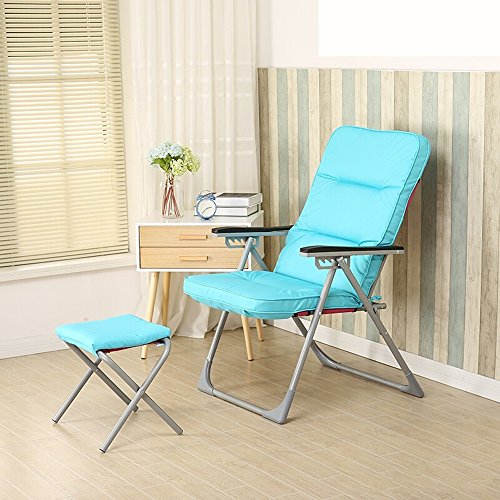 Single Pedestal Roll - LQQGXLPortable Folding Table Single Armchair, Leisure Folding Chair, Modern Minimalist Chair, Lounge Chair, (Color : Blue 1)