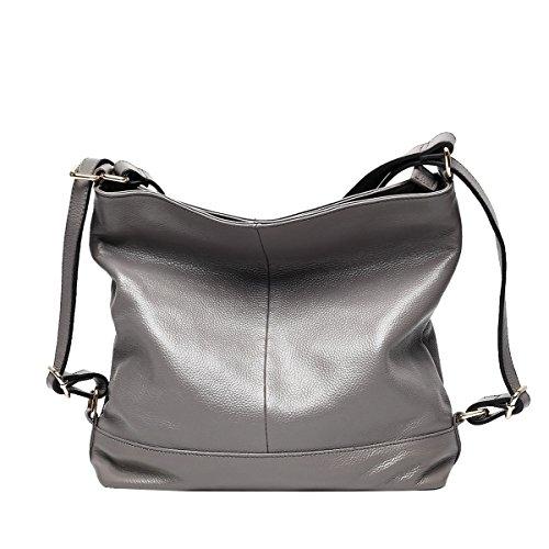 Mena UK-nuove donne Pelle artificiale multiuso casuale pelle morbida borsa / Tracolla / Messenger Bag