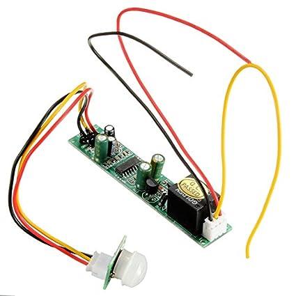 Ils - DC 12v 5a IR Pyroelectric Módulo del Detector del Sensor de Movimiento PIR infrarrojo