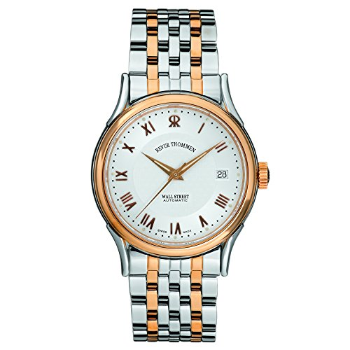 Revue Thommen Men's 20002-2152 Wallstreet Tradition Analog Display Swiss Automatic Two Tone Watch