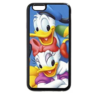 Diy Black Soft pc(Hard shell) Disney Donald Duck Plus 5.5 Case, Only fit For Iphone 6Plus 5.5Inch Case Cover