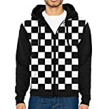 Graphic Hoodies For Men Checkered Flag Custom Full Zip Sweatshirts 3d Printed Hoodies Pullover With Pockets