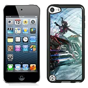 New Fashion Custom Designed Skin Case For iPod Touch 5th With Motorcycle Girl Phone Case Cover