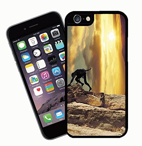 Mountaineering Mountain Climbing - This cover will fit Apple model iPhone 7 (not 7 plus) - By Eclipse Gift Ideas