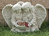 Roman Garden Angel Cherub and Bird Statue Happiness Adds and Multiplies