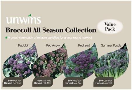 Unwins Broccoli All Season Collection Seeds
