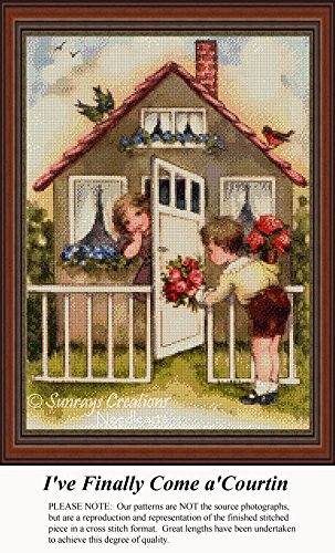 I've Finally Come a'Courtin, Vintage Counted Cross Stitch Pattern (Pattern Only, You Provide the Floss and Fabric)