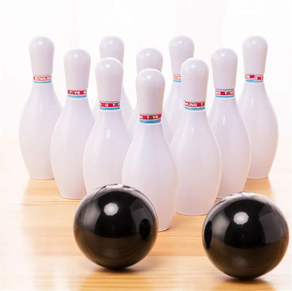CaoQuanBaiHuoDian Bowling Set Bowling Pinball Jouet Petit Plastique Bowling Fun Set Jeu Int/érieur avec 10 Mini Pins Et 2 Billes Jouets Sport pour Enfants Jouets /éducatifs Bowling
