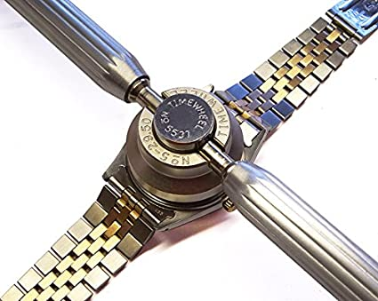 Amazon.com: TIMEWHEEL Hand Held 7 Dies Case Back Opener Tool for Rolex Tudor Oyster Waterproof Watch 36.5mm Included: Watches