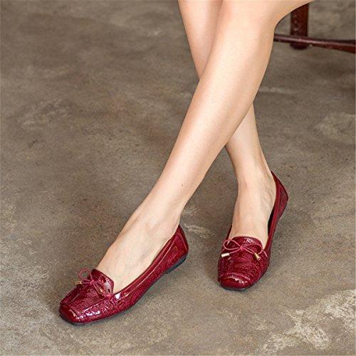Donne Classiche Casual Moda Pieghevole Comode Ballerine Svasate Scarpe Basse S-2