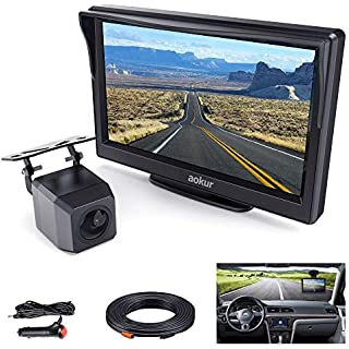 Discount Aokur Backup Camera Kit with 5'' TFT LCD Monitor IP68 Waterproof Starlight Night Vision Camera for Universal Car Trucks License Plate Rear View Camera Parking Assistance System Wired 120° Wide Angle