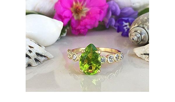 Jewelryonclick Peridot Stein 1,75 Karat nat/ürlicher Original oval lose Edelstein