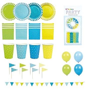 Jabadabado Partypaket Punkte Blau Oder Pink Bunt Partyset