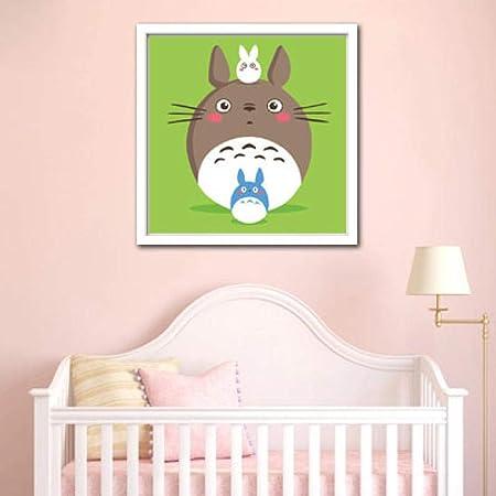 OKOUNOKO Set De Pinturas Para Niños Estuche Con Pincel, Mi Vecino Totoro, Apto Para Principiantes Y Niños, Con Marco 8X12In, 20X30Cm: Amazon.es: Hogar