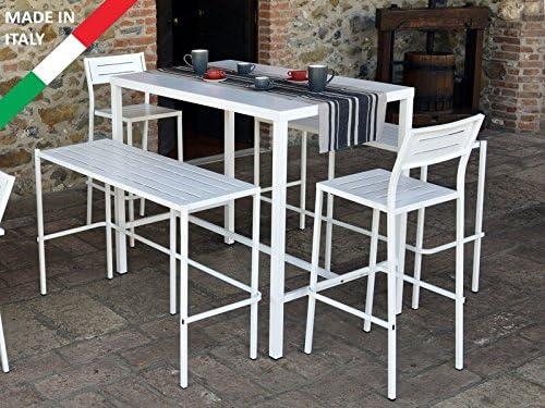 Panche E Tavoli Per Esterno.Rd Italia Set Tavolo Alto Bar 120x80 Con 2 Panche E 2 Sgabelli